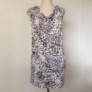 CAbi Spotted Side-ruched Tunic